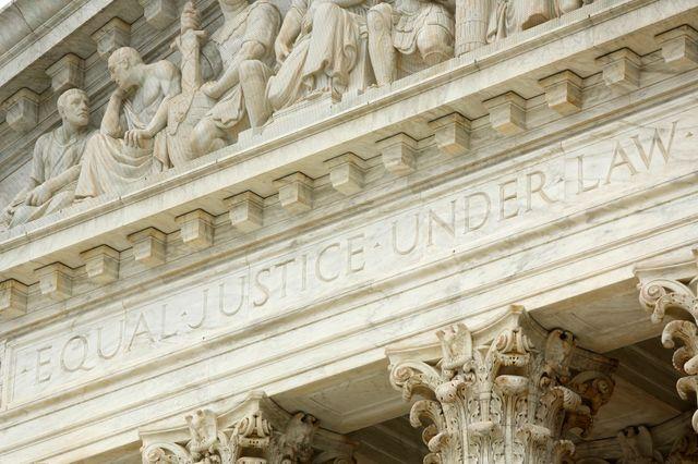 Présidence Trump : devanture de la Cour Suprême