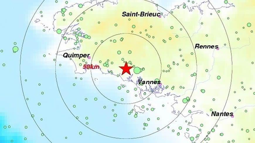 L'épicentre du nouveau séisme ressenti ce dimanche se situe près de Pont-Scorff (56), non loin de Lorient