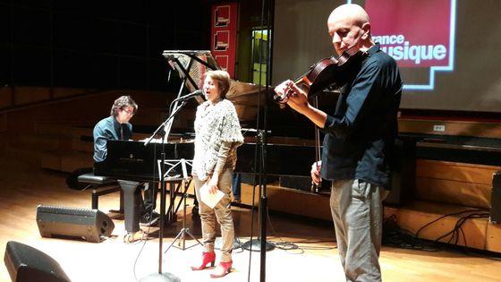 Benoît Delbecq, Claudia Solal et Guillaume Roy au studio 106