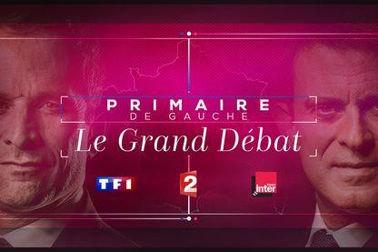 Le débat de la primaire entre Benoît Hamon et Manuel Valls