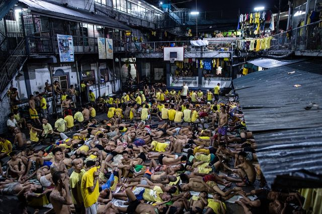 Prison de Quezon city, la nuit à Manille (4 août 2016)