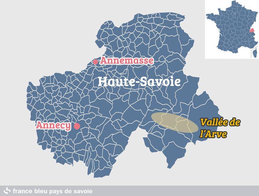 La vallée de l'Arve, en Haute-Savoie
