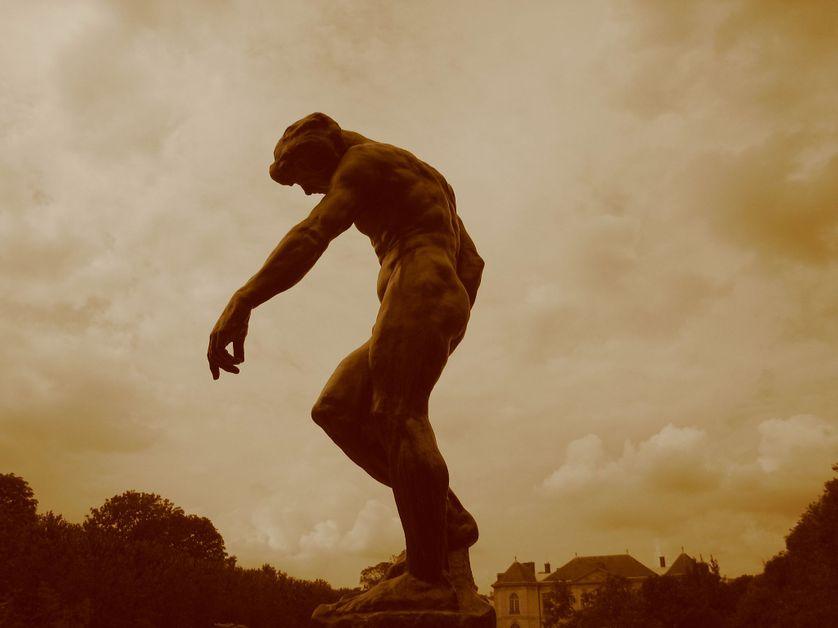 Dans les jardins du Musée Rodin.