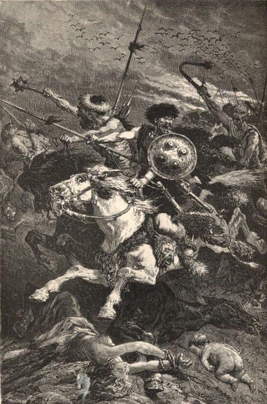 Les Huns à la bataille de Chalons