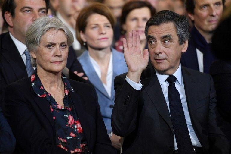 Penelope et François Fillon lors du meeting de La Villette le 29 janvier dernier