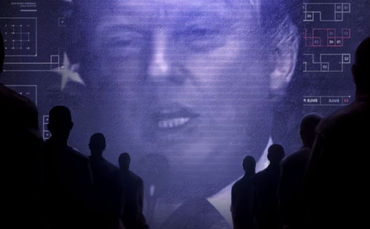 "Capture d'écran du fan film ""Trump 1984""."