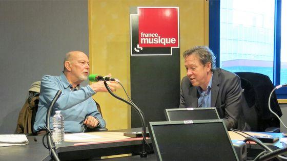 France Musique, studio 132, janvier 2017... Jean-François Kahn & Benoît Duteurtre (de g. à d.)