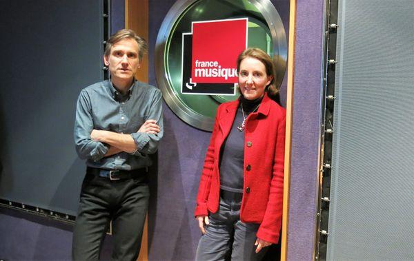 """France Musique, studio 142... le producteur Philippe Venturini & Claire Paolacci, historienne-musicologue, """"Danse et musique"""" éd.Fayard"""