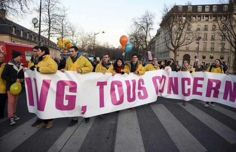 Manifestants de la Marche pour la vie à Paris le 22 janvier 2017