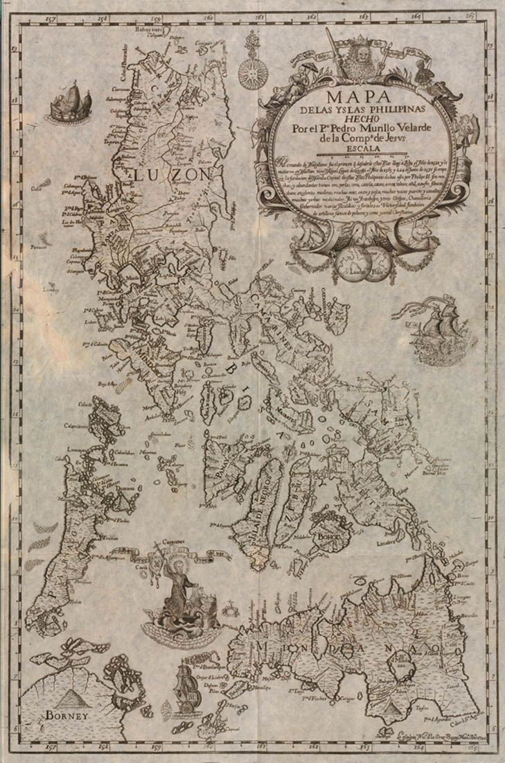 Mapa de las Islas Philipinas