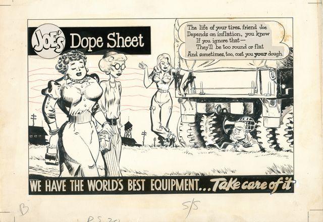 """Image de Will Eisner extraite de """"Joe's Dope Sheet"""", publié dans """"PS Magazine"""""""