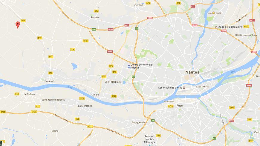 L'accident s'est produit au lieu-dit La Guillaumière à Saint-étienne-de-montluc