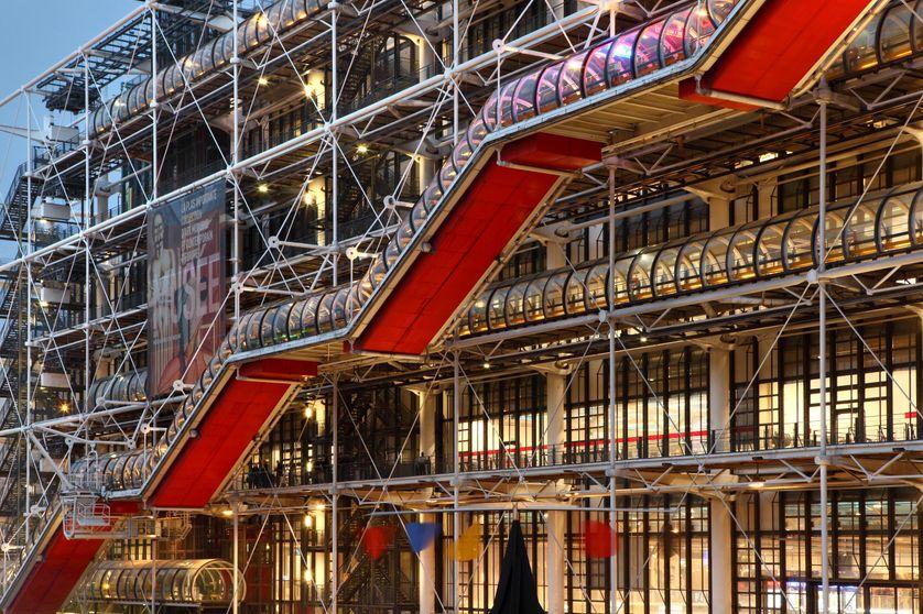 La façade du Centre Pompidou à Paris, 2017