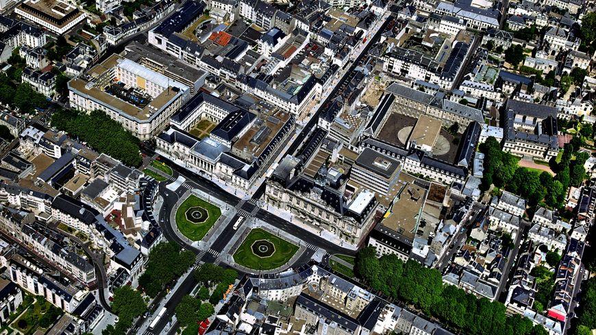 Illustration - Vue aérienne de Tours