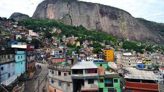 Favela Rocinha, à Rio de Janeiro, 2010