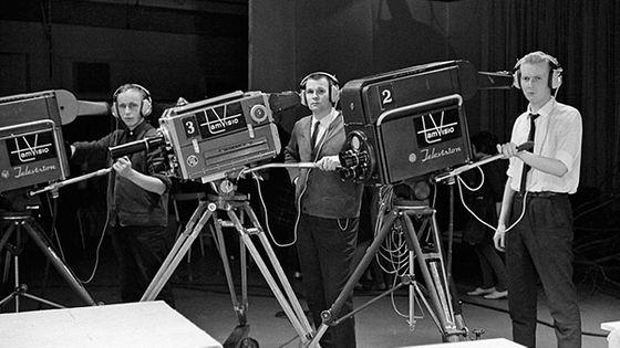 Image d'archives d'une émission de télévision en 1965