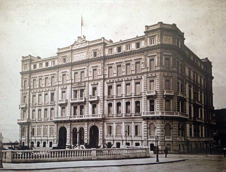 Napoli, Mergellina - Grand Hotel. Autore sconosciuto 19ème siècle