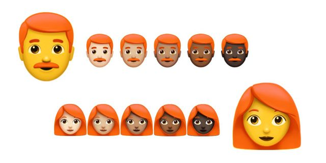 Des emojis roux dans nos smartphones ?