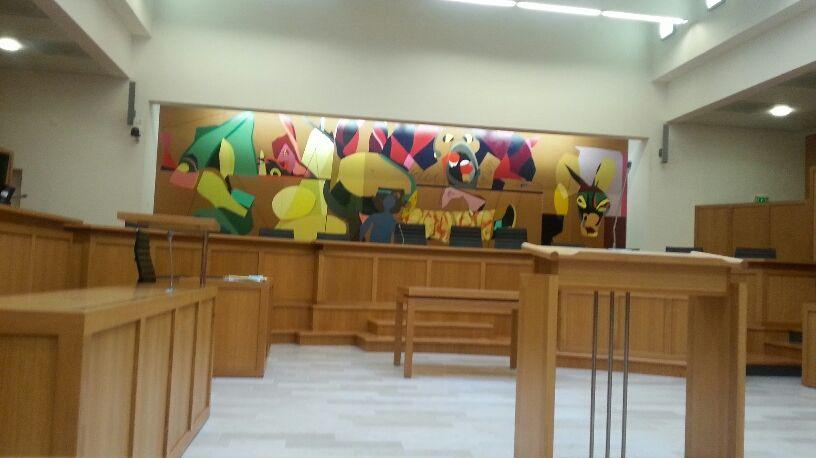 Salle d'audience du Palais de Justice de Laval