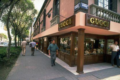Un magasin de bijoux Gucci dans le quartier de la Zona Rosa aisée de Mexico (au Mexique).