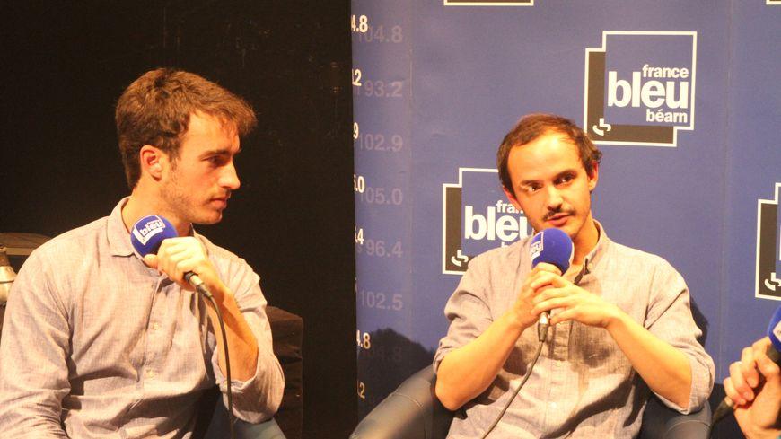 Boulevard des Airs en interview au micro de France Bleu Béarn