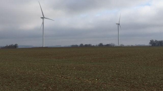 Le parc éolien de l'épivent à Hervilly, à l'est de la Somme