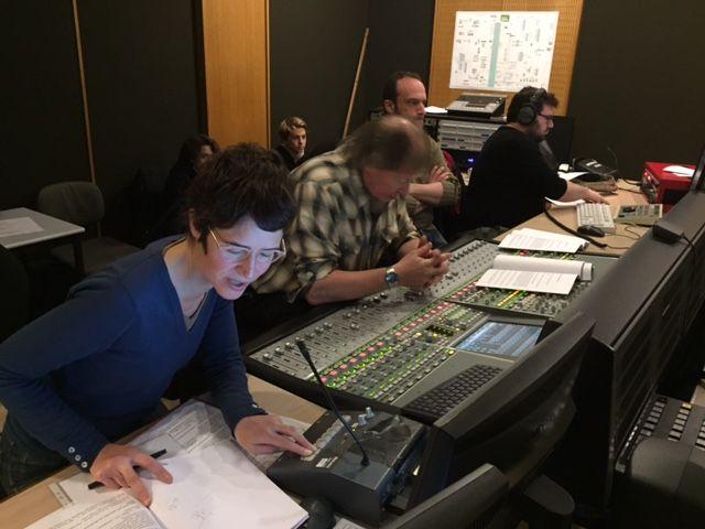 Juliette Heymann, la réalisatrice et pour l'équipe technique : Jean-Richard Dufour et Pierre Henry