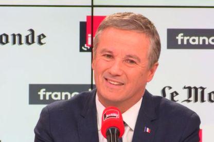 Nicolas Dupont-Aignan sur le plateau de Questions Politiques