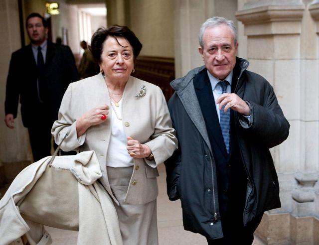 Les époux Tiberi en 2003 à la sortie de l'un de leurs procés