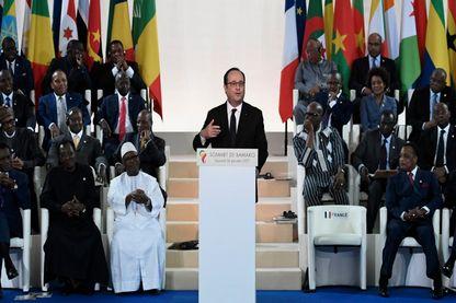 François Hollande le 14 janvier à Bamako