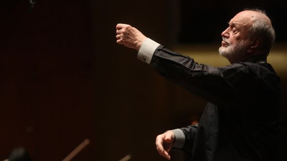 Kurt Masur leading the New York Philharmonic in Beethoven's 'Symphony No. 1 in C major' at Avery Fisher Hall on Wednesday night, May 12, 2010