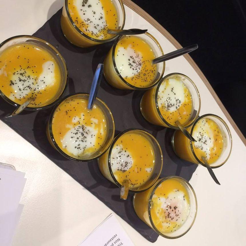 Oeuf cuissson basse température et butternut signé Chez Bern's