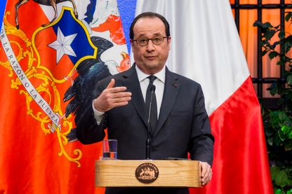 François Hollande en visite au Chili
