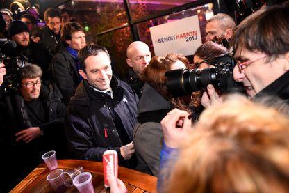 Benoit Hamon , l'un des deux candidats élus par le premier tour de la primaire socialiste, le 22 janvier 2017