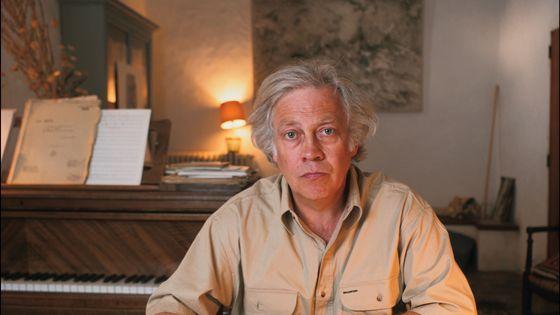 Le compositeur Gilbert Amy en 1991