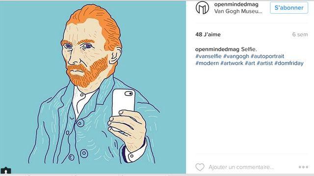Détournement et dissémination autour de Van Gogh sur le compte Instagram d'Openmindedmag
