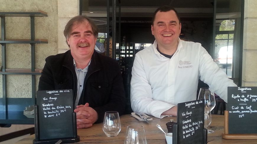 Le caviste Tim Harrison et le Chef Pascal Lombard