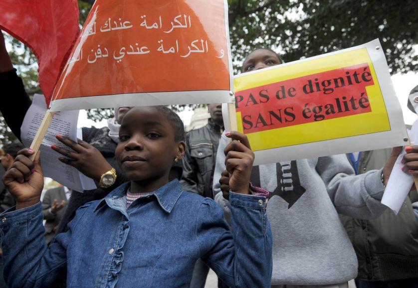 Manifestation contre le racisme à Tunis en mars 2014