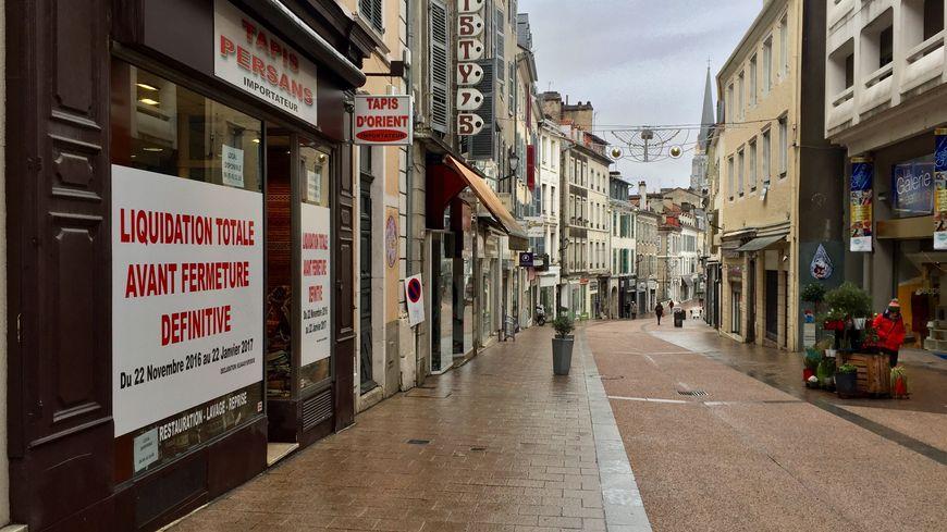 La rue des Cordeliers à Pau