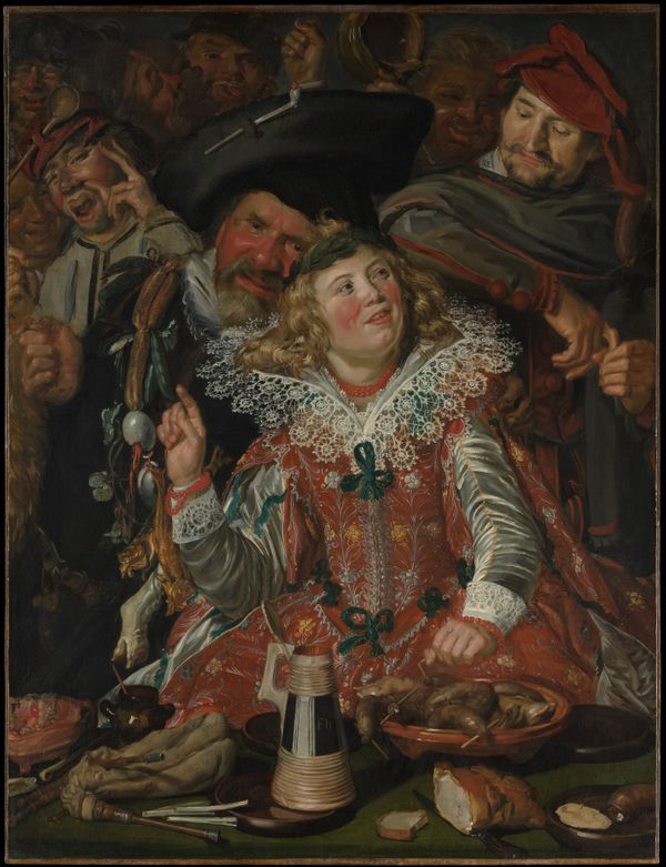 Les fêtards du Mardi Gras de Frans Hals (Dutch, Antwerp 1582/83–1666 Haarlem) vers 1616-17
