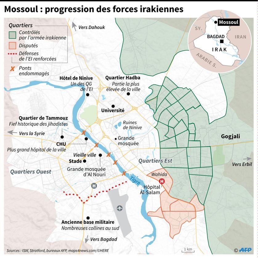 La bataille pour Mossoul, qui a des conséquences jusqu'au Kurdistan irakien