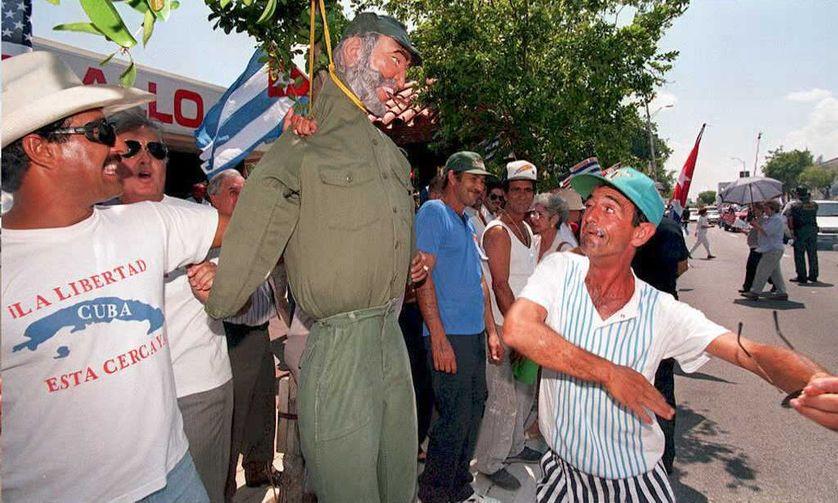 Manifestation de cubano-américain, 16/05/1995, à Miami