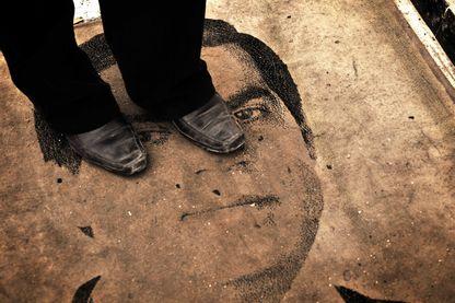 Paillasson à l'effigie de Ben Ali