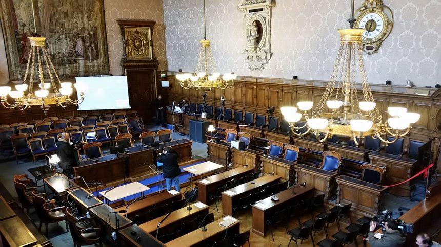 C'est dans cette salle que le maréchal Pétain a été jugé en 1945