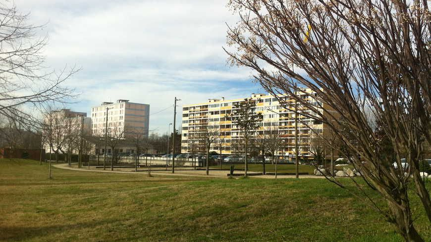 Des immeubles du quartier Fontbarlettes à Valence