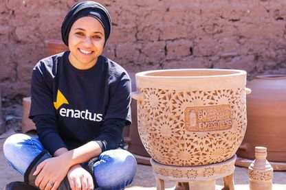 Raowia Lamhar et le frigo naturel © Go Energyless