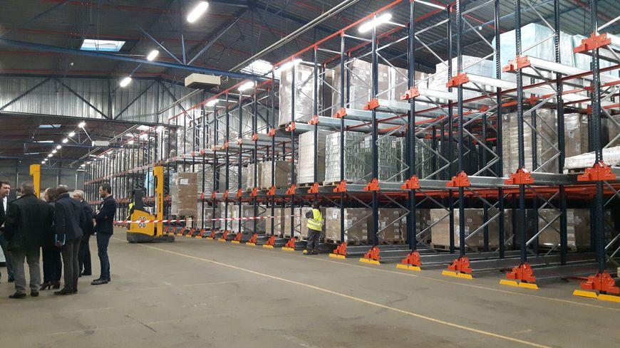 La plateforme logistique de la Croix-Rouge insertion à Pantin