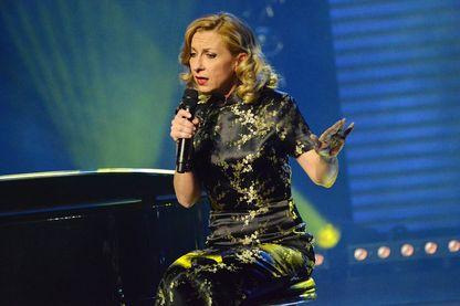 """La cantatrice Natalie Dessay lors de la """"Nuit de la déprime 2015"""" à Paris"""
