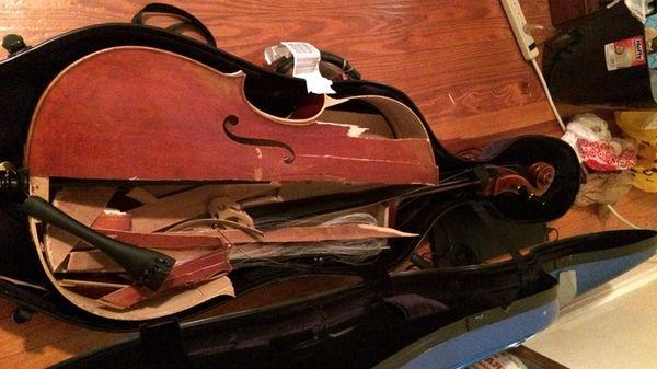 Une étudiante reçoit le soutien des internautes suite à la destruction de son violoncelle