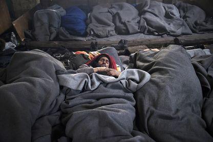 Migrants afghans dans la capitale serbe de Belgrade